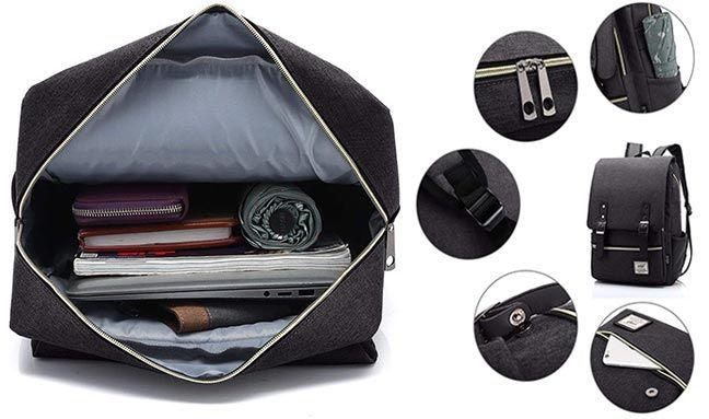 Nlyefa Laptop Rucksack im klassischen Design für 17,39€ (statt 29€)