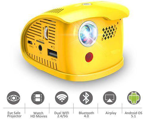 WOWOTO Q1   Portabler Mini Beamer mit vielen Extras für 174,84€ (statt 269€)