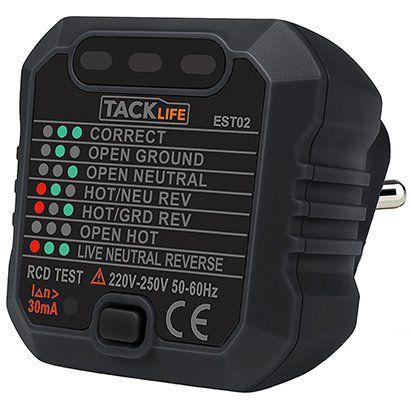 Tacklife   EST02 Steckdosen Tester für 4,99€ (statt 9€)