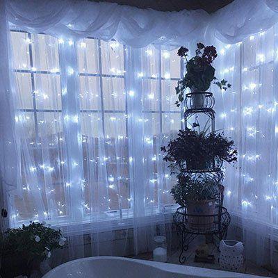 3x3m Lichtervorhang mit 7 Lichtmodi & 300 LEDs für 14,99€ (statt 20€)
