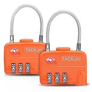 Tacklife HCL1A   Gepäckschloss, Vorhängeschloss mit 3 Zahlenstellen im Doppelpack für 4,99€ (statt 11€)   Prime