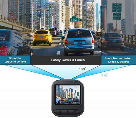 CACAGOO Dash Cam mit 170° Weitwinkelobjektiv für 29,38€ (statt 70€)