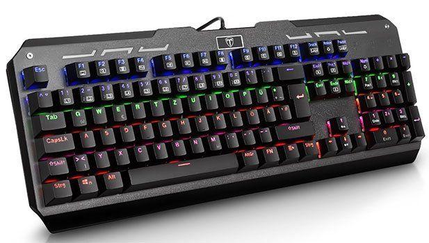 VicTsing V1124   mechanische Gamingtastatur mit LED Hintergrundbeleuchtung für 25,95€ (statt 44€)