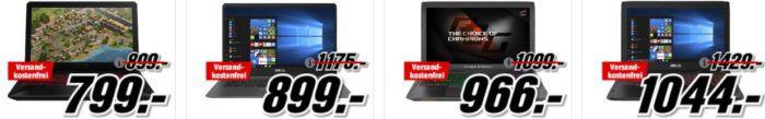 Media Markt Asus Tiefpreisspätschicht: günstige Notebooks, PCs und Grafik Karten