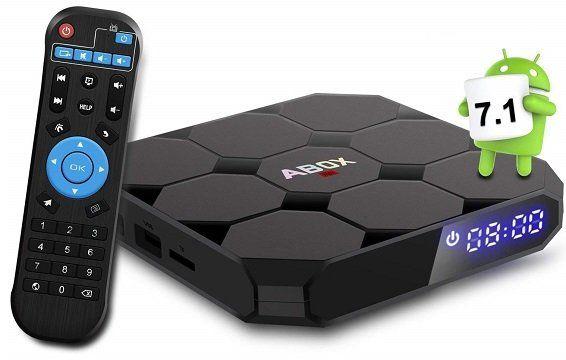 ABOX A1 MAX   TV Box mit Android 7.1.2, 2GB RAM & 16GB ROM für 41.99€ (statt 60€)
