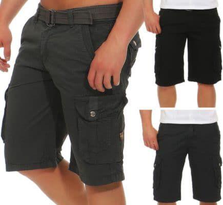 Azuonda AZ58   Herren Cargo Shorts mit Gürtel für je 19,90€
