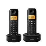 2er Set Philips D1352B/38 Schnurlostelefon mit Anrufbeantworter für 22€ (statt 34€)