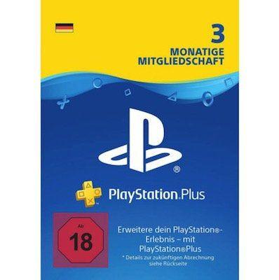 Sony PlayStation Plus 3 Monate Mitgliedschaft als Downloadcode für 15,99€