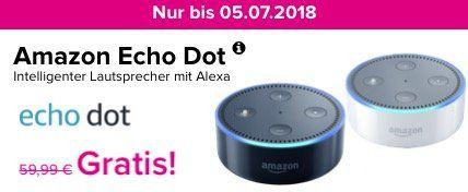 Vodafone Allnet Flat mit 6GB für 17,99€ mtl. + gratis Amazon Echo dot Lautsprecher   nur 6 Monate Laufzeit!