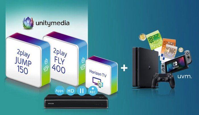 Unitymedia Angebote bei Handyflash   z.B. 2play Fly 400 für 37,49€ mtl. + Apple HomePod für 4,95€ (Wert 325€)
