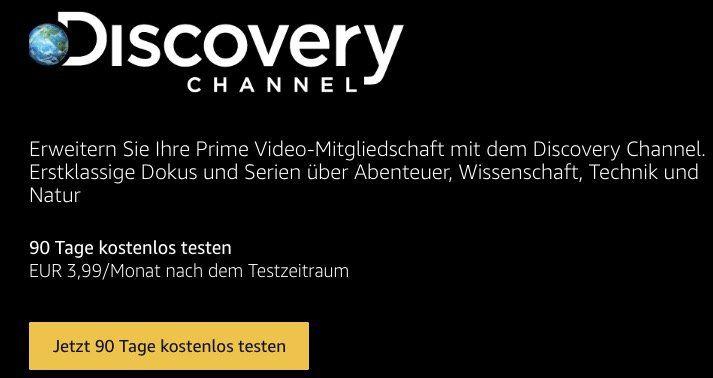 3 Monate Discovery Channel, Cirkus und Filmtastic gratis für alle Amazon Prime Mitglieder
