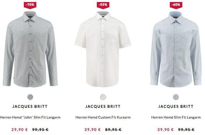 Jacques Britt Hemden ab 25,41€ bei engelhorn (statt 55€)