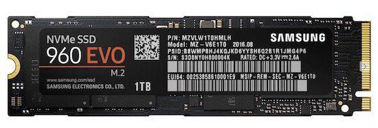 Samsung 960 Evo M.2 SSD mit 250GB für 77€(statt 91€)