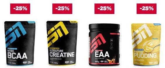 25% Rabatt auf ESN Produkte bei Fitmart   z.B. 4kg ESN Whey für nur 56,68€ (statt 69€)