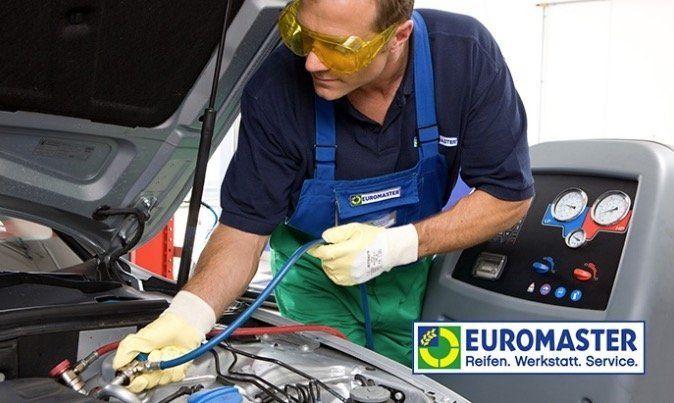 Euromaster: Klimaanlagen Wartung inkl. Desinfektion, Austausch und vollständigem Auffüllen von Kältemittel für 79,90€ (statt 129€)