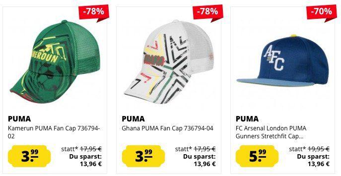 Puma Caps ab 3,99€ zzgl. VSK bei SportSpar