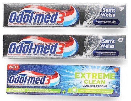Ausverkauft! 6er Pack Odol Med 3 Whitening Extra Zahnpasta für 3,99€ (statt 7€)