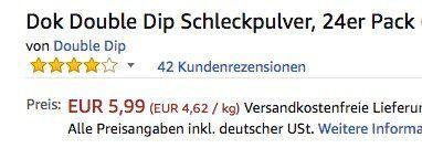 24er Pack Dok Double Dip Schleckpulver ab 5,99€   Plus Produkt