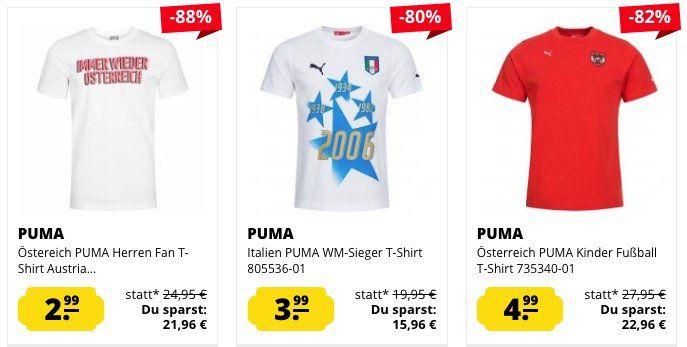 Puma T Shirts ab 2,99€ zzgl. VSK bei SportSpar
