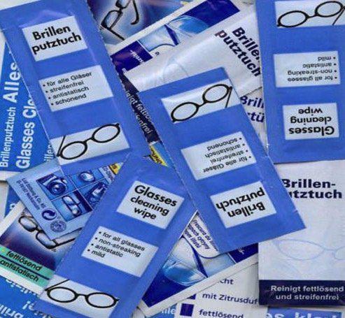 505 feuchte Brillenputztücher für 11,90€