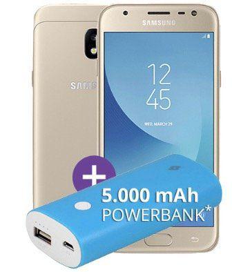 o2 Allnet Flat mit 3GB LTE für 9,99€ mtl. + Samsung Galaxy J3 nur 1€ + gratis 5.000 mAh Powerbank