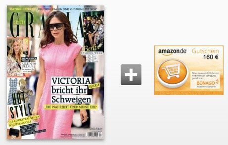 51 Ausgaben Grazia für 163,20€ inkl. 160€ Amazon Gutschein