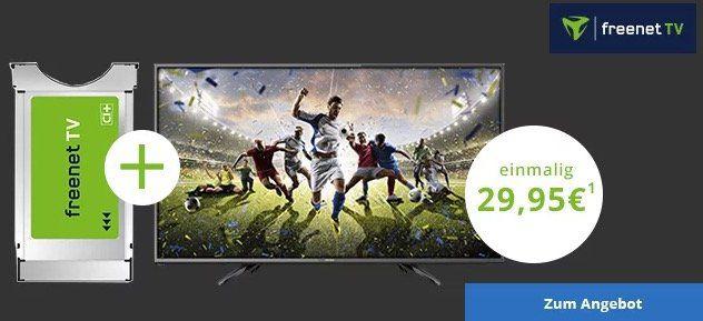 48 Zoll Dyon Fernseher für 29,95€ + CI+ Modul + freenet TV (DVB T2) 3 Monate gratis   danach dann 17,99€ mtl.