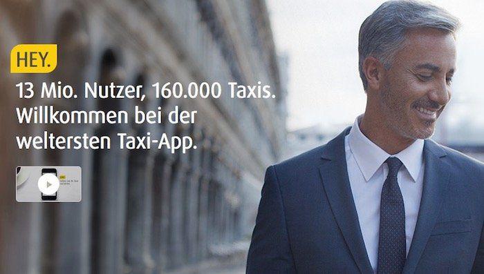 myTaxi Gutschein mit fetten 50% Rabatt auf eine Fahrt innerhalb Deutschlands oder Österreich