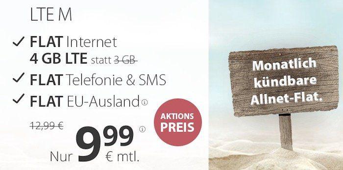 o2 Allnet Flat von PremiumSIM mit 4GB LTE nur 9,99€ mtl. + monatlich kündbar + keine Anschlussgebühr