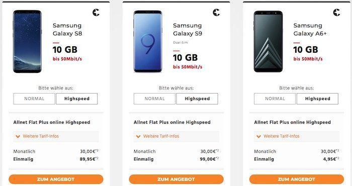 Telekom Allnet Flats von Congstar mit 10GB Highspeed für 30€ mtl. + Smartphones ab 4,95€