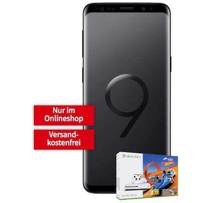 Schnell! Samsung Galaxy S9+ inkl. Xbox One S 500GB Forza Horizon 3 + Hot Wheels nur 79€ + Telekom Flat mit 1GB für 26,99€ mtl.