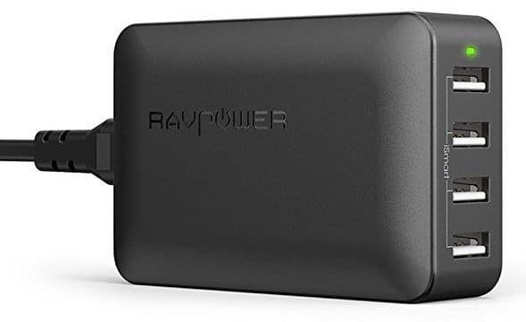 RAVPower 4 Port USB Ladegerät 40W 5V/8A für 12,71€ (statt 17€)