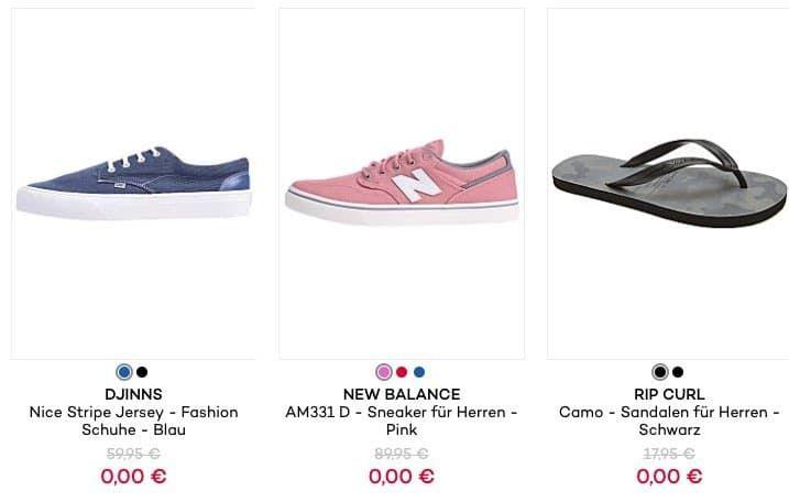 Preisfehler: Schuhe für 0€ bei Planet Sports zzgl. 2,95€ VSK