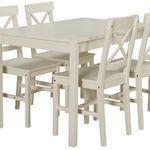 Kiefer Landhaus Essgruppe mit 4 Stühlen + 1 Tisch für 89€ (statt 124€)