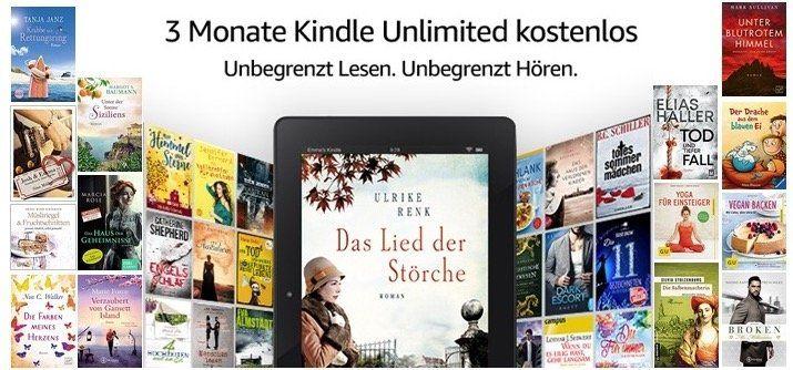 Kindle Unlimited 3 Monate gratis testen (statt 30€)   nur Prime Mitglieder