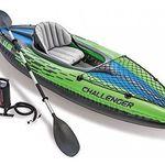 Intex 68305 Kajak Challenger K1 Set Schlauchboot + Alu-Paddel + Pumpe für 64,50€ (statt 88€)