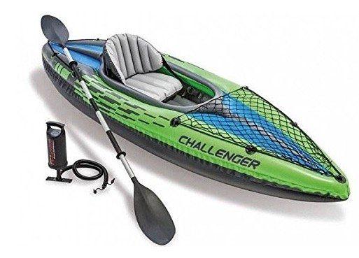 Intex 68305 Kajak Challenger K1 Set Schlauchboot + Alu Paddel + Pumpe für 64,50€ (statt 88€)