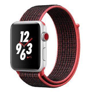 Apple Watch Series 3 Nike+ LTE 42mm mit Sport Loop Crimson Armband für 399€(statt 465€)