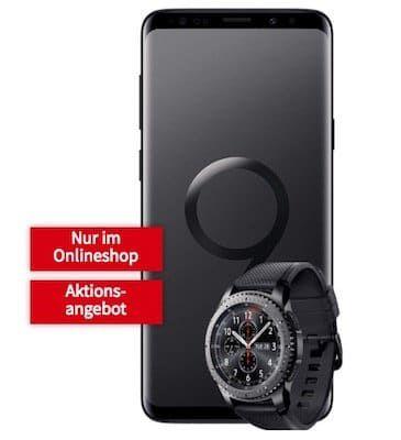 Knaller! Samsung Galaxy S9 Plus + Galaxy Gear S3 frontier für 79€ + Telekom Allnet Flat mit 1GB für 26,99€ mtl.