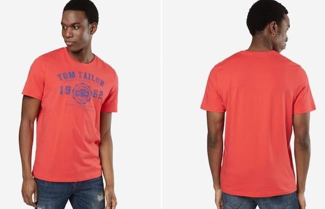 Tom Tailor T Shirt in Orange für 8€ (statt 13€)