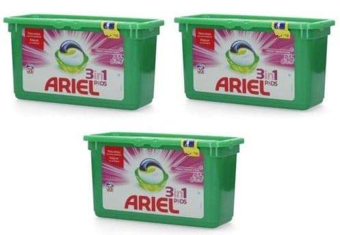 105er Pack Ariel 3in1 Pink Sensation Wasch Pads für 19,99€ (statt 25€)