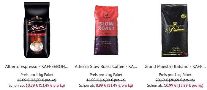 Tipp! 20% auf Kaffee bei Kaffeevorteil (ab 30€)   z.B. Altezza Slow Roast ab 7,19€ (ab 8kg)