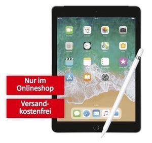 Knaller! Apple iPad Cellular 2018 mit 32GB + Apple Pencil für 99€ + Telekom LTE Datentarif mit 10GB für 19,99€ mtl.