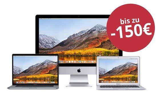 MacTrade: Bis 150€ Rabatt auf MacBooks und iMacs
