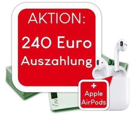 Vodafone DataGo L mit 12GB LTE für 27,49€ mtl. + 240€ Cashback + Apple AirPods gratis