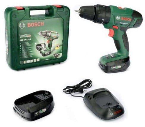 Bosch PSB 14,4 LI 2 Schlagbohrschrauber mit 2 Akkus für 123,45€ (statt 145€)