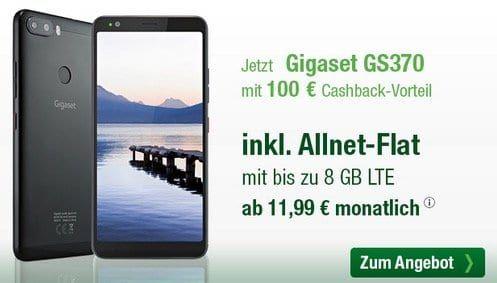 Gigaset GS370 für 19,99€+ 100€ Cashback + o2 Allnet Flat mit 2GB LTE für 13,99€ mtl.