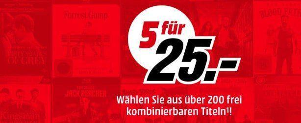 Media Markt: 5 Blu rays für 25€ + VSK