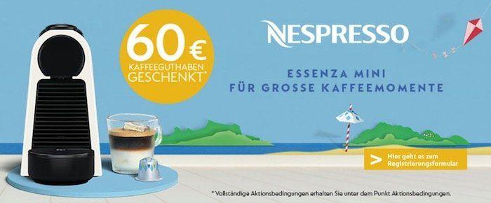 Knaller! DeLonghi Essenza Mini EN85 Nespresso Kapselmaschine für 49€ (statt 79€) + 60€ Kaffeeguthaben geschenkt