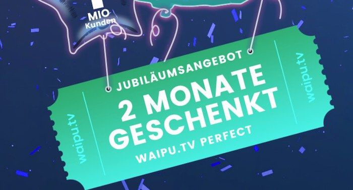 3 Monate waipu.tv Perfect Streaming für 9,99€ (statt 29,97€)